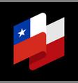 chile flag isolated chilean ribbon banner state vector image vector image