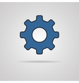 Cog Icon with shadow vector image vector image