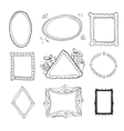 Collection of decorative loop frames vector image vector image