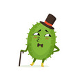 cute cactus gentleman funny plant character in a vector image vector image
