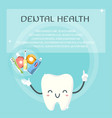 cute teeth design template vector image vector image
