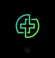 drugstore pharmacy medicine cross icon logo vector image vector image