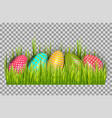 easter eggs background with fresh green grass vector image vector image