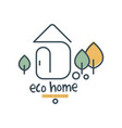 eco home logo design ecologic home sign with vector image vector image