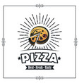 emblem pizza vector image