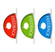 feedback vystrizek kulaty vector image vector image