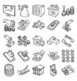 financial set icon doodle hand drawn or outline vector image