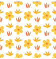 floral seamless pattern with daisy blossom flowers vector image