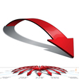 Full Circle Medium Length Curved Pointing Arrows vector image