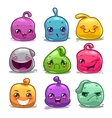 Funny cute cartoon colorful jelly characters vector image vector image