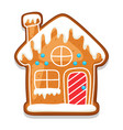 gingerbread cookies house merry vector image