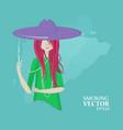 girl smokes vector image vector image