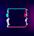 glitch square frame distorted old effect colored vector image vector image