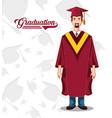 graduate man avatar character vector image vector image