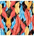 graphic pattern autumn leaves vector image vector image