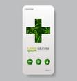green cross medical marijuana leaves cannabis vector image