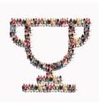 group people shape cup vector image