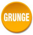 grunge orange round flat isolated push button vector image vector image