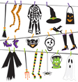 halloween costume clothesline vector image