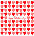 happy valentines day greeting card red and pink vector image vector image