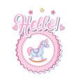 hello cute baby cartoon vector image vector image