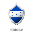 honduras flag on metal shiny shield vector image
