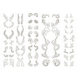 horns big set vector image