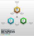 infographics business template concept with 3 opti vector image