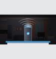 intelligent smart speaker voice recognition vector image vector image