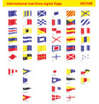 international maritime signal flags vector image vector image