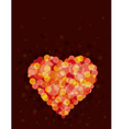 lovely red heart vector image