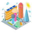 modern future building eco concept isometric view vector image vector image