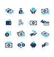 money icons azure series vector image vector image