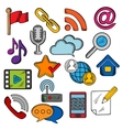 Multimedia and communication icons set vector image vector image