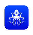 octopus icon digital blue vector image