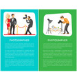 paparazzi and still life photographer web banners vector image vector image