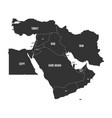 political map of middle east or near east in vector image vector image