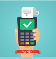 pos terminal in flat style pos payment flat vector image