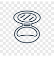 powder concept linear icon isolated on vector image