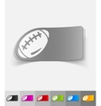 realistic design element rugby ball vector image vector image