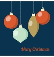 Retro Christmas greeting card invitation Hanging vector image vector image