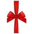ribbon bow vector image vector image