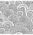 seamless pattern with ethnic tribal boho trendy vector image