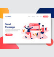 sending message vector image