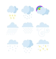 Set of rainy weather clouds icons vector image vector image
