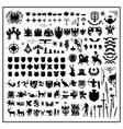 silhouettes heraldic design vector image