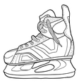 Sketch of hockey skates Skates to play hockey on vector image vector image