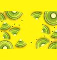 slice of kiwitop view kiwi super summer in paper vector image