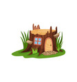 small fairy-tale house in form of old stump vector image vector image