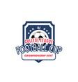 soccer college team football ball icon vector image
